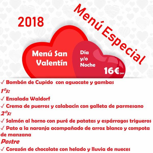 Menú Especial San Valentín 2018