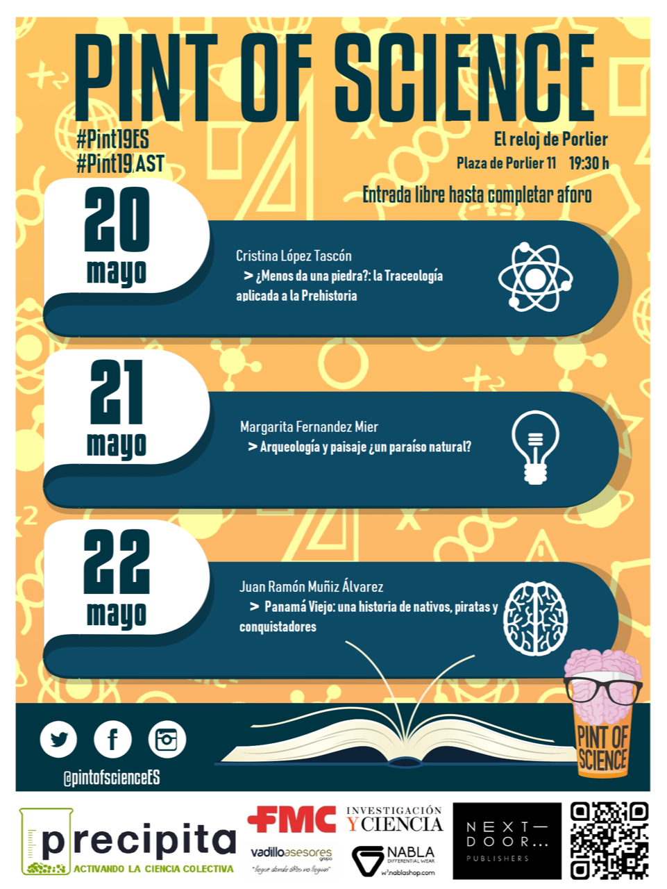 PINT OF SCIENCE FESTIVAL 20 - 22 MAYO 2019